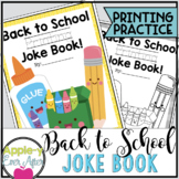 Back to School PRINTING Practice Joke Book