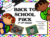 Back to School Pack (1st-3rd)