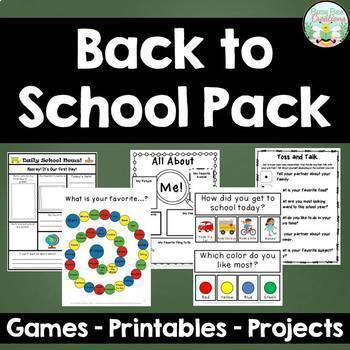 Back to School Pack - Activities, Games, and Projects for the First Week