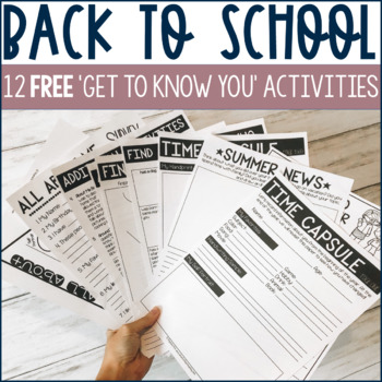 12 Back to School Activities - Freebie