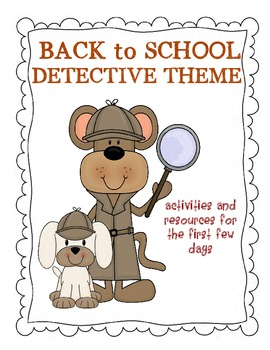 Back to School Pack Detective Theme