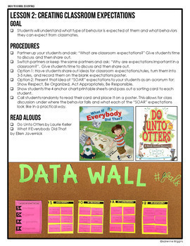 Back to School Pack (10 First Week Lessons & Data Wall) BUNDLE