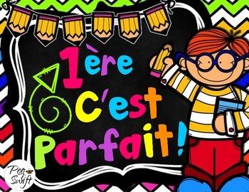 Back to School Pack Grade 1 ~ French ~ La rentrée