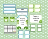Frogs Hopping Classroom Pack - Back to School