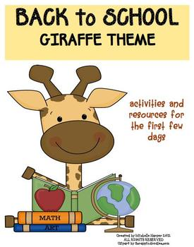 Back to School Pack Giraffe Theme