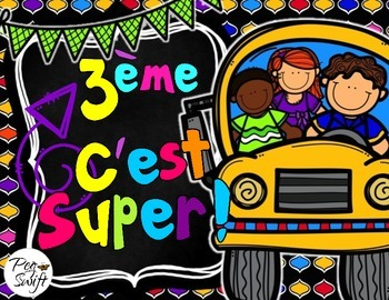 Back to School Pack Grade 3 ~ French ~ La rentrée