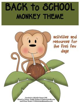 Back to School Pack Monkey Theme