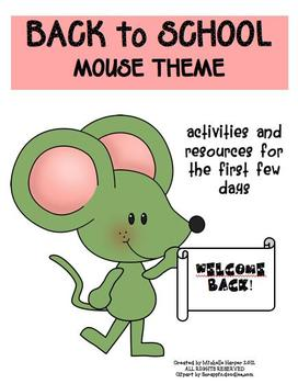 Back to School Pack Mouse Theme