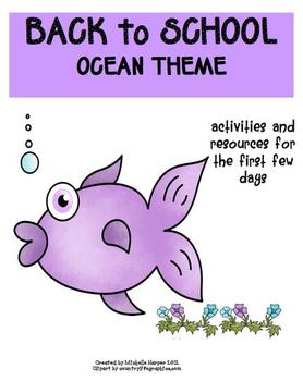 Back to School Pack Ocean Theme