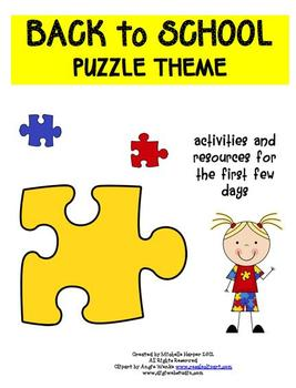 Back to School Pack Puzzle Theme