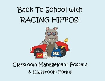 Back to School Pack - Racing Hippos Theme -