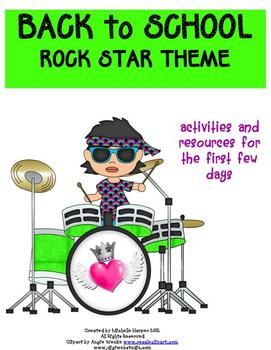 Back to School Pack Rock Star Theme