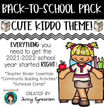 Back-to-School Pack! Teacher Binder Pages, Student Activities, & Schedule Cards!