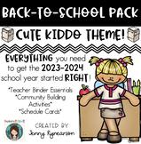 Back-to-School BUNDLE! Teacher Binder, Student Activities, & Schedule Cards!