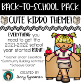 Back-to-School Pack! Teacher Binder Pages, Student Activit