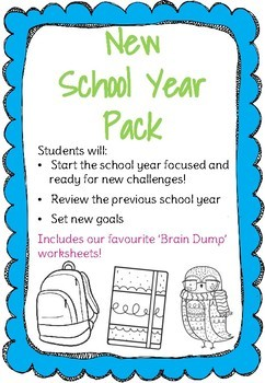Back to School Pack- Yearly Review, Goal Setting, Time Management & Brain Dump