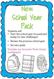 Back to School Pack- Yearly Review, Goal Setting, Time Man