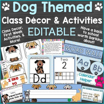 Back to School Pack with Dog Theme Editable