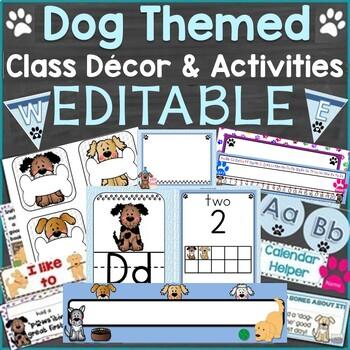 Dog Themed Classroom Decor & Back to School Activities