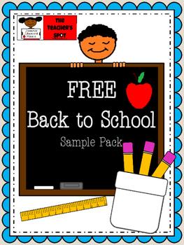 Back to School Packet - FREEBIE