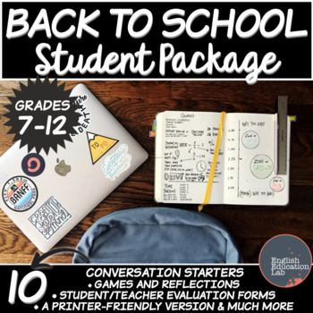 Back to School Package- Middle School