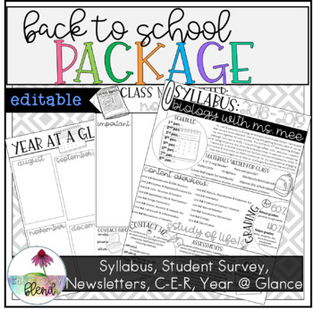 Back to School Package: Syllabus, Newsletter, Student Survey, and More!