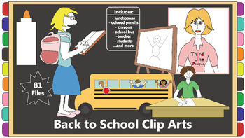 Back to School Clip Arts