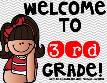 Back to School- Third Grade