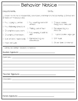 Back to School Packet