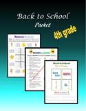 Back to School Packet - 4th grade