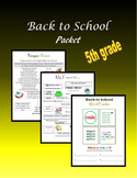 Back to School Packet - 5th grade