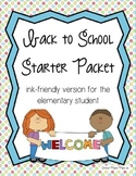 Back to School Packet - Elementary