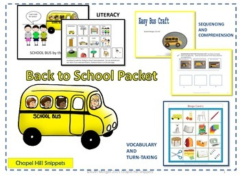 Back to School Packet--Special Education/Speech Collaboration