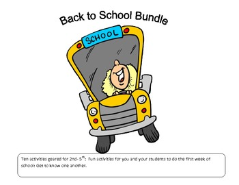 Back to School Packet : Let's go Back to School Bundle