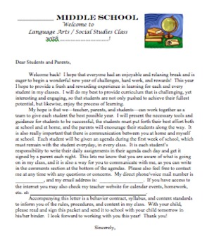 Back to School Packet & PowerPoint - Letter, Behavior Contract, Syllabus