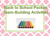 Back to School Packet: Team-Building Activities
