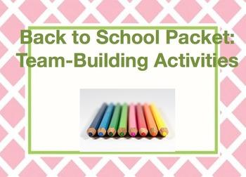 Back to School Packet: Team-Building Activities