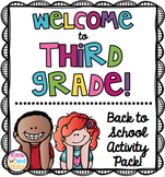 First Day of School: Welcome to 3rd Grade [NO PREP]