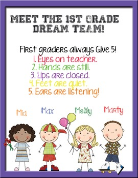 Back to School Packet for 1st Graders! ( Thanks for your feedback!)