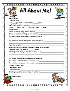 Back to School Packet for Organization and Information