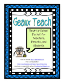 Back to School Packet for Teachers, Parents, and Students