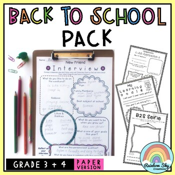 Aussie Back to School Pack - Grades 2 - 5 {NO PREP}