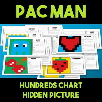 Back to School Pacman Hundreds Chart Hidden Picture