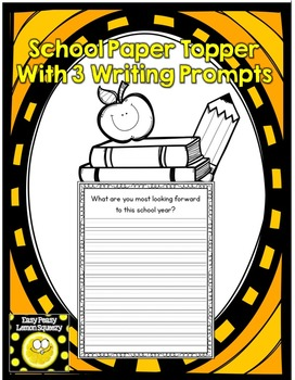 Back to School Page Topper with Writing Prompts