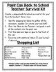 Back to School Paint Can Teacher Survival Kit