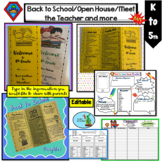 Back to School Pamphlet, Meet the Teacher, Open House/Forms/Superheroes Theme