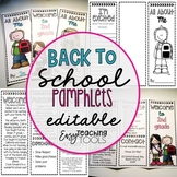 Back to School Pamphlets Bundle {editable}