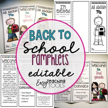 Back to School Pamphlets Bundle {editable}