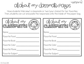 Back to School-All About Me
