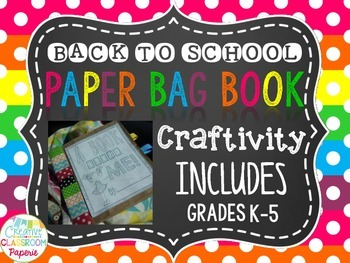 Back to School Paper Bag Book